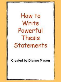 100 Thesis Statement Examples - Thesis Help Blog